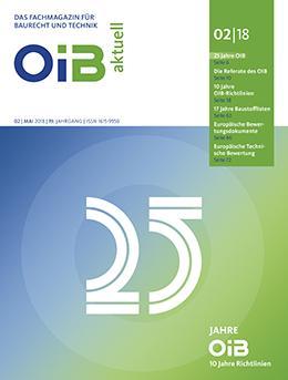 Cover, OIB aktuell, Heft 2/2018
