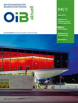 OIB aktuell, Heft 4/2013