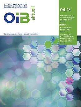 Cover, OIB aktuell, Heft 4/2018