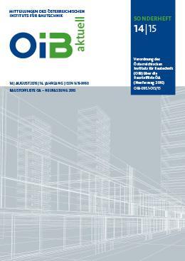 Baustoffliste ÖA - Neufassung 2015