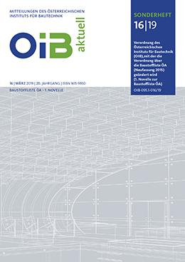 1. Novelle zur Baustoffliste ÖA